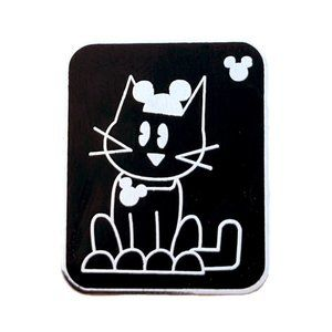 Disney Pets Lapel Pin: Cat with Mickey Mouse Ears